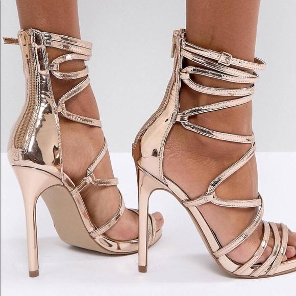 23152760fdb Steve Madden Rose Gold Flaunt Heels